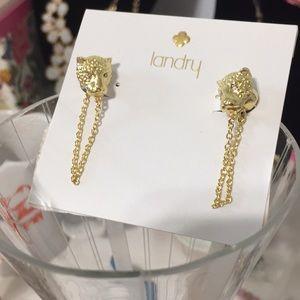 Leopard earrings by Landry